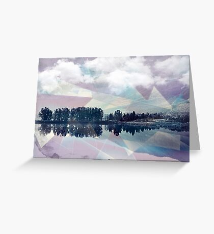 Abstract Mirror Greeting Card