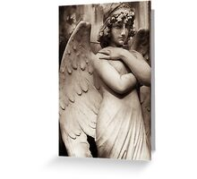 neo-classical angel Greeting Card