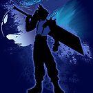 Super Smash Bros. Blue Cloud Silhouette by jewlecho