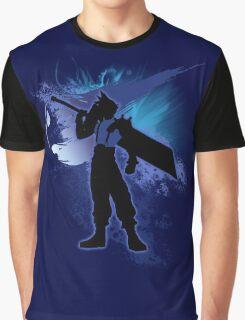 Super Smash Bros. Blue Cloud Silhouette Graphic T-Shirt