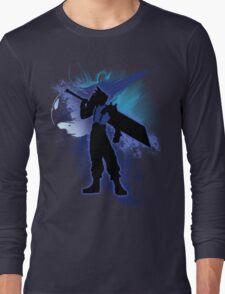Super Smash Bros. Blue Cloud Silhouette Long Sleeve T-Shirt