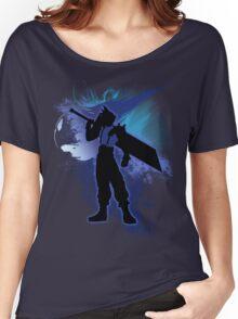 Super Smash Bros. Blue Cloud Silhouette Women's Relaxed Fit T-Shirt