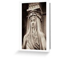 grecian cayratid of sorrow Greeting Card