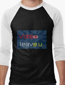 Vote Leave EU - British Flag Men's Baseball ¾ T-Shirt