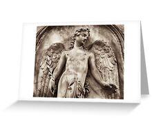 eros as angel Greeting Card