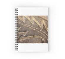 Leather pattern Spiral Notebook