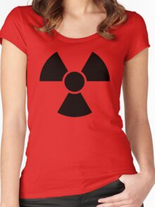 Radioactive Sign 2 Women's Fitted Scoop T-Shirt