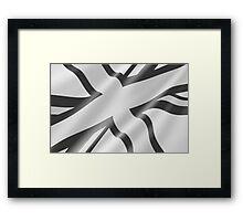 Black and White Union Jack Framed Print