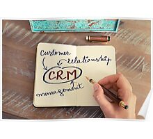 Motivational concept with handwritten text CRM as CUSTOMER RELATIONSHIP MANAGEMENT Poster