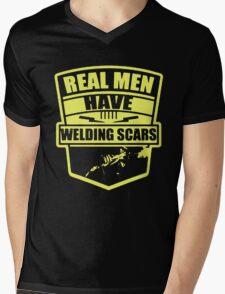 REAL MEN HAVE WELDING SCARS Mens V-Neck T-Shirt
