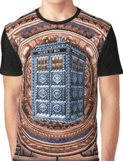 Aztec Time Travel Box full color Pencils sketch Art Graphic T-Shirt