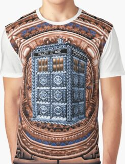 Aztec Time Travel Box full color Pencils sketch Art Graphic T-Shirt