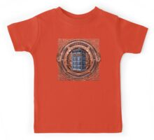 Aztec Time Travel Box full color Pencils sketch Art Kids Tee