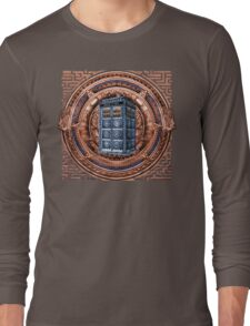 Aztec Time Travel Box full color Pencils sketch Art Long Sleeve T-Shirt