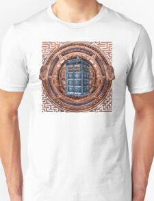 Aztec Time Travel Box full color Pencils sketch Art T-Shirt