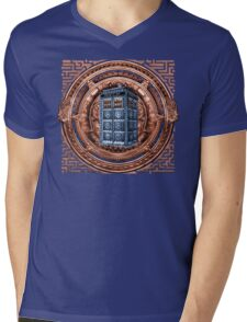 Aztec Time Travel Box full color Pencils sketch Art Mens V-Neck T-Shirt