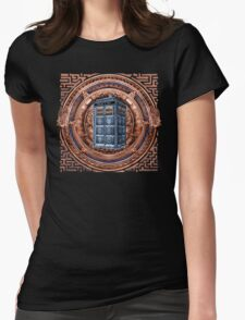 Aztec Time Travel Box full color Pencils sketch Art Womens Fitted T-Shirt