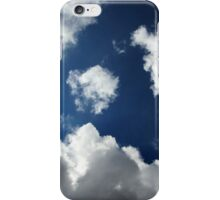 Blue sky or just a gap in the grey clouds? iPhone Case/Skin