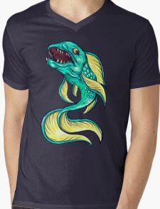 Furious Fish Mens V-Neck T-Shirt