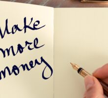 Motivational concept with handwritten text MAKE MORE MONEY Sticker