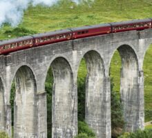 The Jacobite crossing Glenfinnan Viaduct Sticker