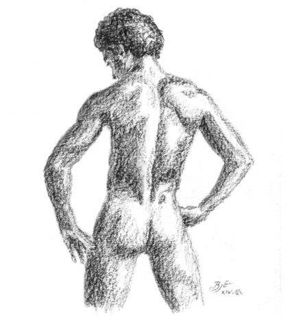 Male nude Sticker