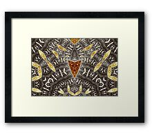 Copper and Graphite Framed Print