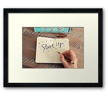 Motivational concept with handwritten text START UP Framed Print