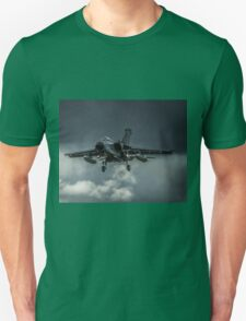 Tornado against storm clouds Unisex T-Shirt