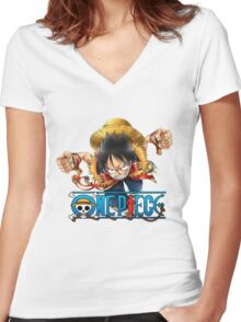 luffy Women's Fitted V-Neck T-Shirt