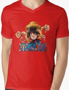 luffy Mens V-Neck T-Shirt
