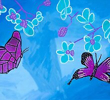 'Blossoming Butterflies' by Angelina Sarkissian (2016) by Peter Evans Art