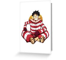 luffy red white Greeting Card
