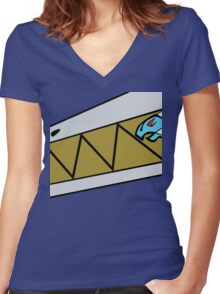 Dino Charge Aqua - Costume Women's Fitted V-Neck T-Shirt