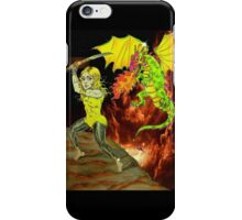 Yellow Haired Warrior Slays iPhone Case/Skin