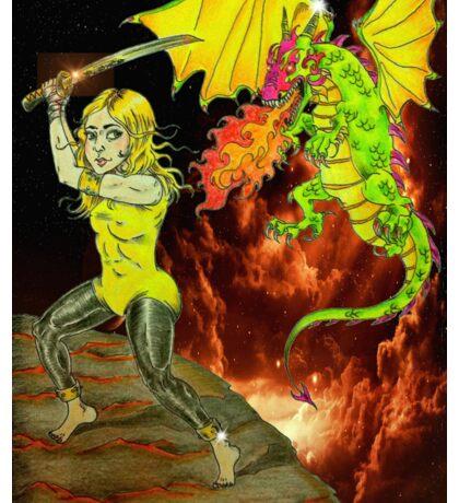 Yellow Haired Warrior Slays Sticker
