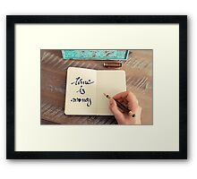 Motivational concept with handwritten text TIME IS MONEY Framed Print