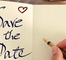 Motivational concept with handwritten text SAVE THE DATE Sticker