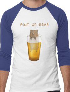 Pint of Bear Men's Baseball ¾ T-Shirt