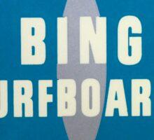 Bing Surfboards Sticker