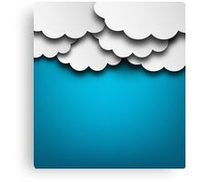Cloudy Background Canvas Print