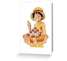 luffy pizza Greeting Card