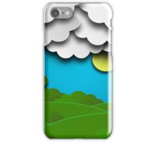 Cloudy Summer Background iPhone Case/Skin