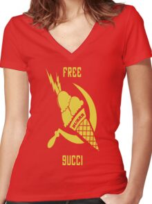 Free Gucci Mane Women's Fitted V-Neck T-Shirt