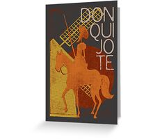 I love books Collection: Don Quixote Greeting Card