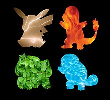 Pokemon Silhouette Black by Lucy Lier