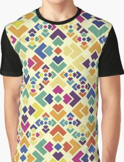 Seamless geometric pattern. Colorful background. Random colored tiles. Graphic T-Shirt