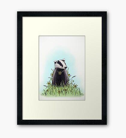 Daisy's Badger Framed Print