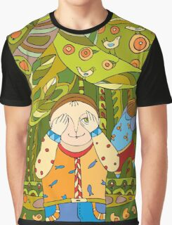 Children's play in forest Graphic T-Shirt
