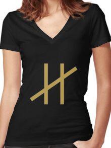 Moderat Logo  Women's Fitted V-Neck T-Shirt